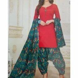 Cotton Ladies Printed Salwar Suit, Hand Wash, Machine Wash