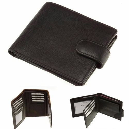 993fe3c80bc53 Pure Leather Black Lock Type Men Leather Wallet