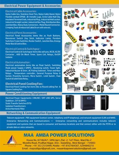 Electrical Cable , Panel & Automation Accessories - M A P S
