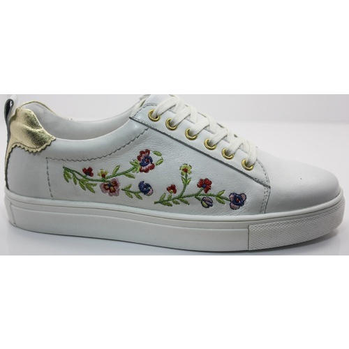 Ladies Casual White Printed Shoes