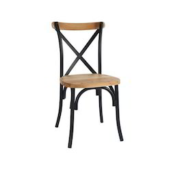 HV Powder Coated Cross Back Chair, For Cafe