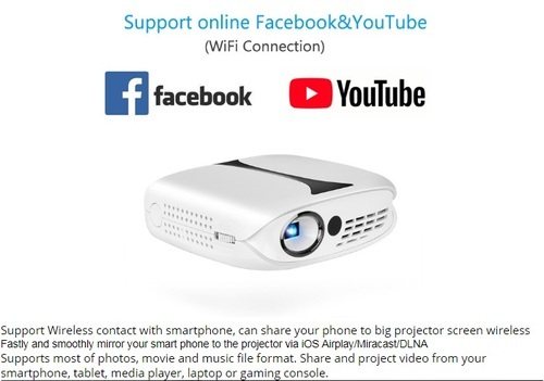 035cabd665a865 White Battery Pico Projector, Brightness: 1000-2000 Lumens, Rs 14500 ...