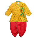Printed Kids Full Sleeves Angrakha Dhoti