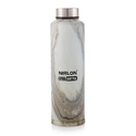 Nirlon Printed Soft Touch Cream Color Steel Bottle