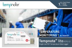Tempnote Lite V2 Emirates Airlines Approved Data Logger