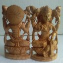 Wooden Lakshmi Statue