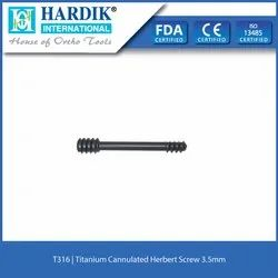 Titanium Cannulated Herbert Screw 3.5mm