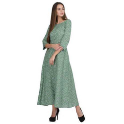 Green Grgo Ladies Cotton kurti