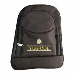 Canvas Black School Backpack Bag