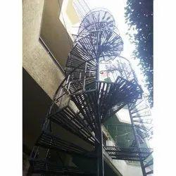 Exterior Spiral Mild Steel Staircase