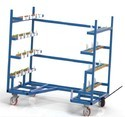 Mild Steel Material Handling Trolley, Capacity : 500 To 5000kg