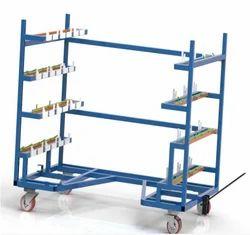 Mild Steel Material Handling Trolley, Capacity : 500 to 5000kg