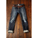 Tapered Fit Denim Jeans, Waist Size: 32