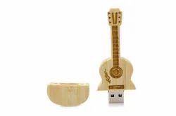 Wooden Guitar Fancy USB Pen Drive
