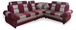 Wooden Sofa Set, Living Room, Seating Capacity: 5 Seater