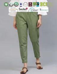 Sustainable Cotton Ladies Pants/Trouser
