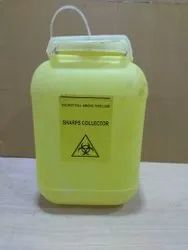 Yellow Polysharps 5 Litre Plastic Sharps Container