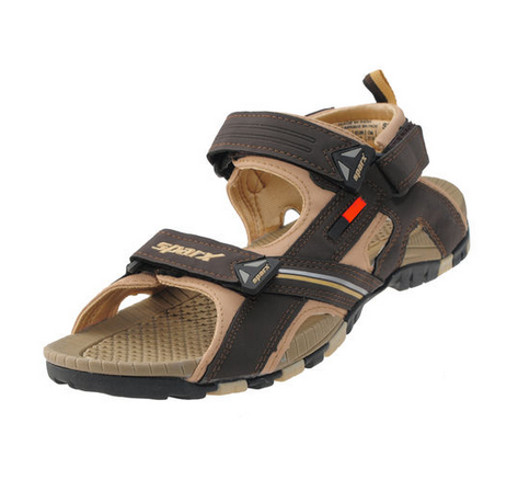 be354bd67bb1 Sparx Brown   Beige Gents Sports Sandal SS-457