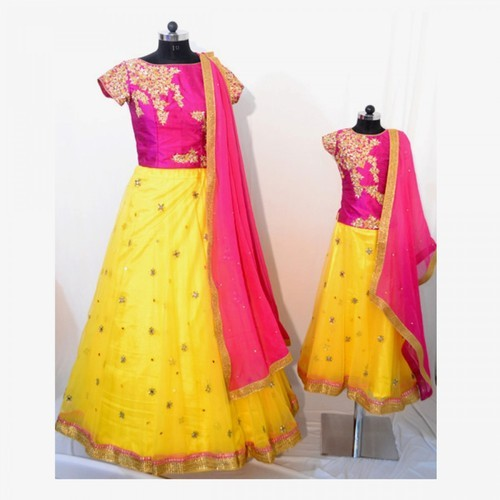 Mother Daughter Dress Customised Combo Dresses Wholesale Trader