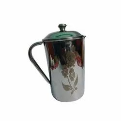 Silver Round 1 L Stainless Steel Jug
