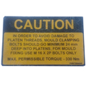 SS Safety Sign Plate
