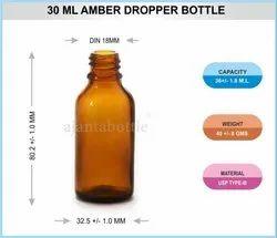 Amber Pharma Glass Dropper Bottle 30 mL