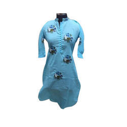 Round Neck Available In 03 Colors Embroidered Ladies Kurti