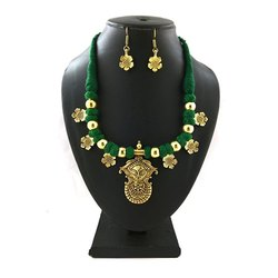 Traditional Thread Gold and Silver Necklace Set