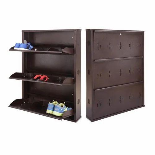 Wall Mounted Shoe Storage.Metal Wall Mounted Shoe Rack 29 Inches