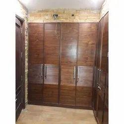 Acme Wooden Double Door Teak Veneer Wardrobe