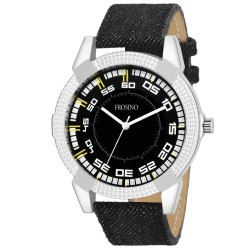 Frosino FRAC061810 Analog Black Dial Watch