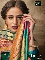 Kessi Fabrics Parnita Vol 2 Beautiful New Designs Embroidered Collection