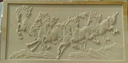 Natural Stone Running Horses