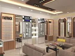 Optical Showroom Designing Interior with 3D