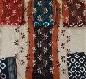 "Poonam Saree 35-36"" Cotton Katha Panel Work Dress Material"