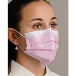 pink disposable mask