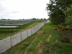 Solar Project Precast Boundary Wall