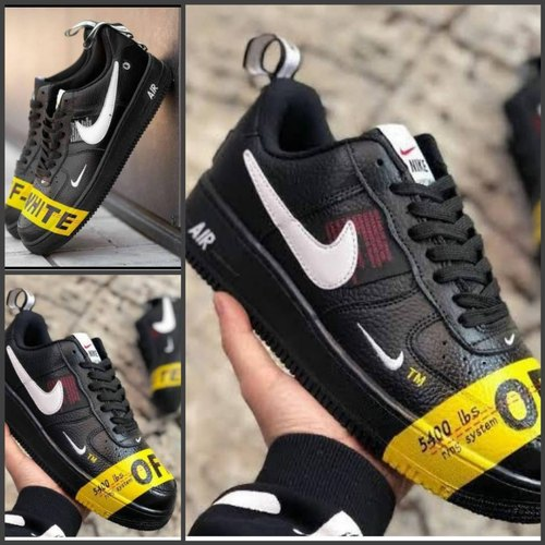 Men Black Nike Air Force Off-white, Rs