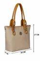 Pu Leather Plain Double Pocket Ladies Hand Bag, Size: 10x27x28 Cm