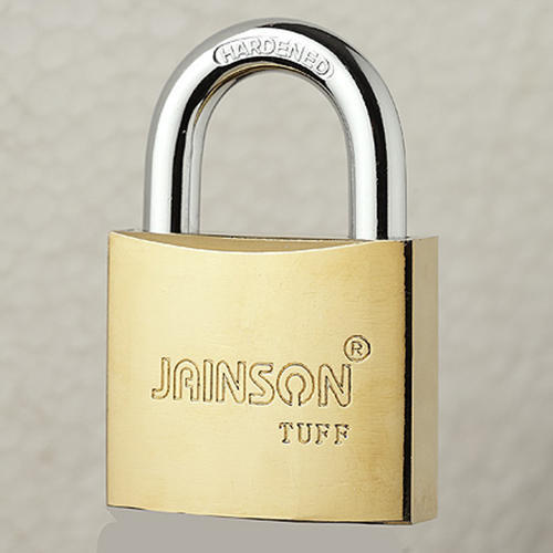 Jainson With Key Tuff 50mm (Brass Plated), Packaging Size: <10 Piece, Padlock Size: 50 mm