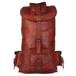 Leather Backpack Travel Hiking Bag