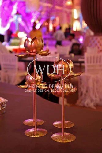 Metallic Flower Wedding Centerpiece Wedding Design Hub Llp Delhi
