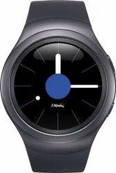 Samsung Gear S2 Dark Grey Smartwatch (Grey Strap, Regular)