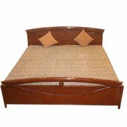 Modern Brown Wooden Bed