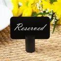 Round Black Cast Aluminum Card Holder