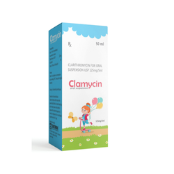 Clarithromycin For Oral Suspension USP 125mg per 5ml