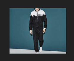 Black And White Male Men's Track Suit