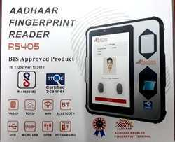 Realtime R S 405 Aadhaar Enabled Biometric Attendance Machine With Safety Net & Unrooted Device Pass