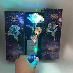 24 k golden rose Rose with LED