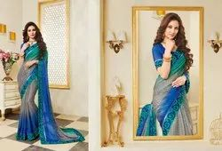 Blue Timeless Trends Saree